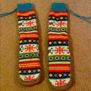 Fuzzy socks/boots